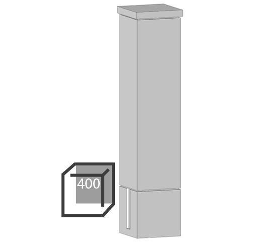 Бетонный столбик «гладкий» 400х400 мм воротный, калиточный