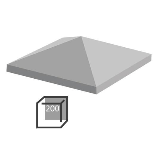 Бетонный колпак под столб 200х200