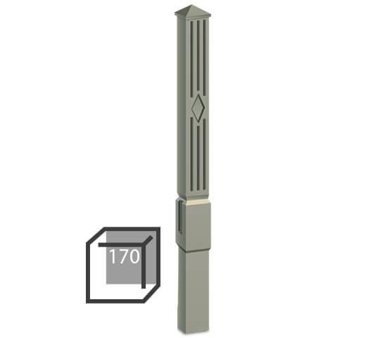 Бетонный столбик «классика» 170х170 мм воротный, калиточный