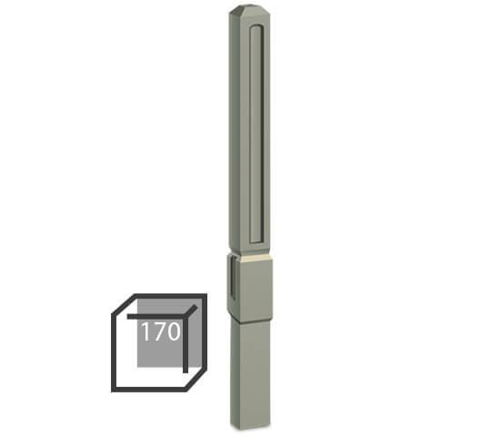 Бетонный столбик «прямой романо» 170х170 мм средний