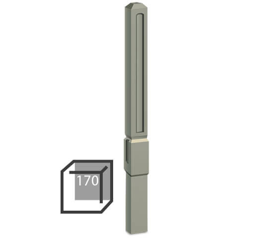 Бетонный столбик «прямой романо» 170х170 мм воротный, калиточный